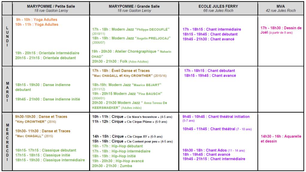 Planning cours oiseau-lyre 2020-21